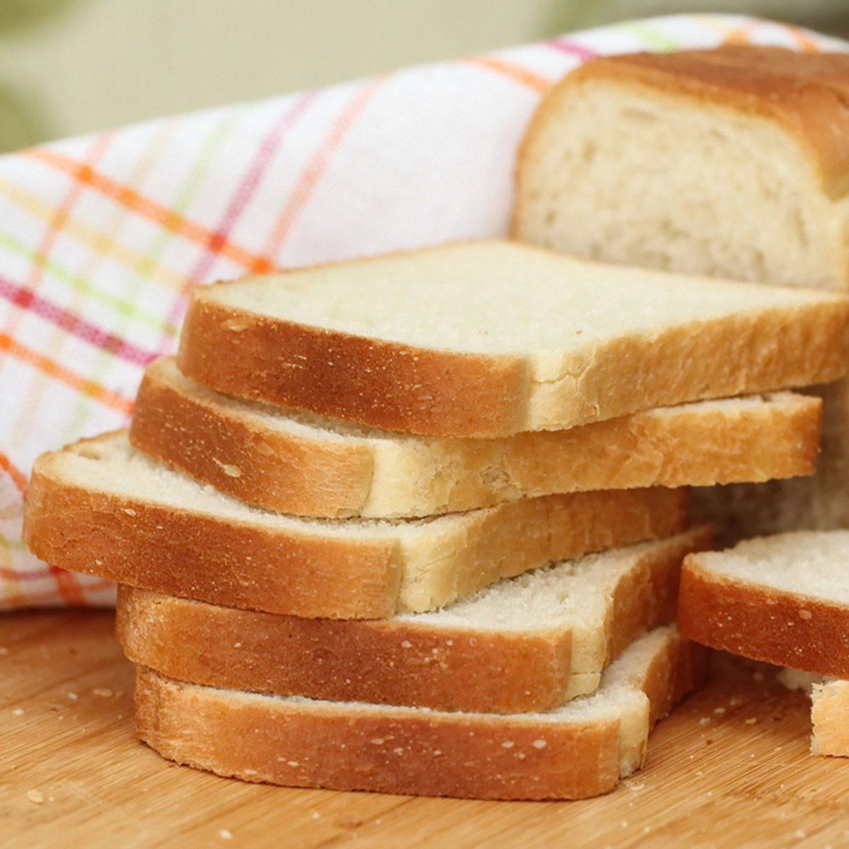 Sliced white bread; Shutterstock ID 352819853
