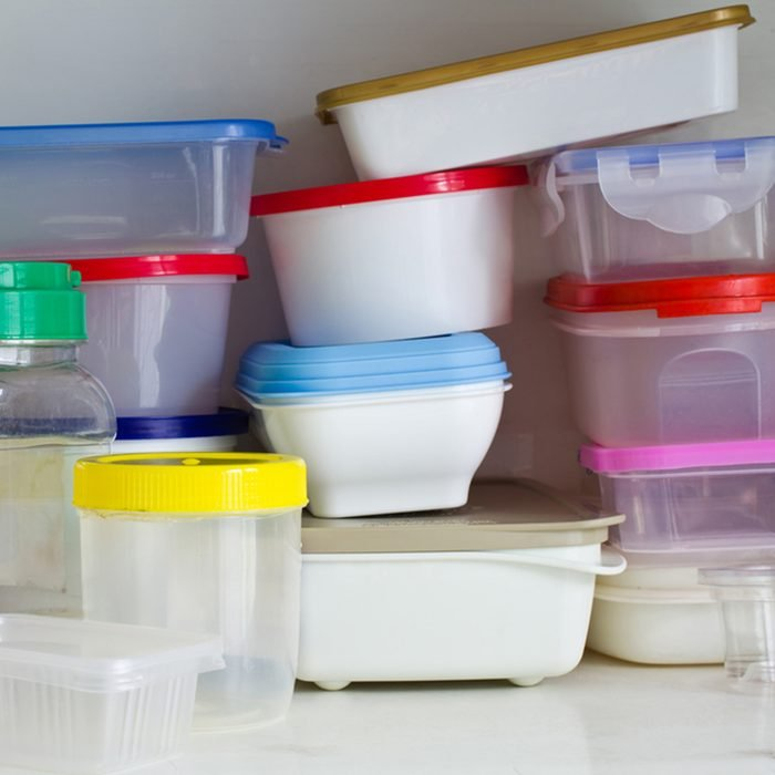 Reusable plastic container in the larder; Shutterstock ID 114016396