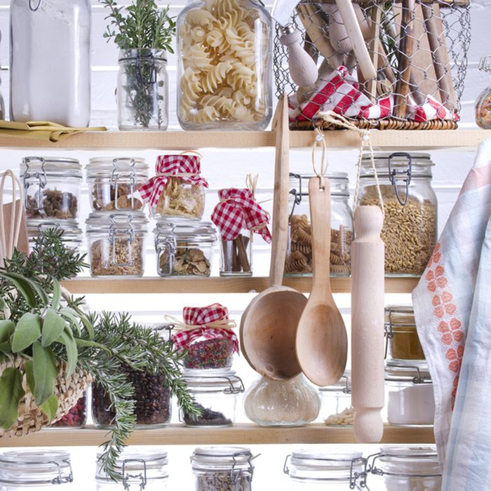 Small Pantry Housewife, Containing Necessary To Cook ; Shutterstock ID 165127682; Job (TFH, TOH, RD, BNB, CWM, CM): TOH