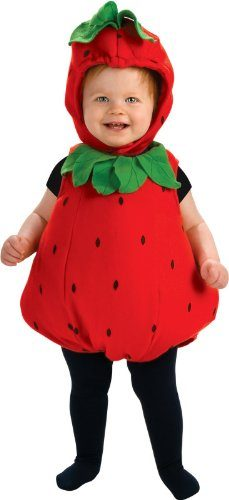 Toddler in a full-body strawberry costume with a hood and smiling  sc 1 st  Taste of Home & 19 Frighteningly Fun Food Halloween Costumes | Taste of Home
