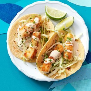 21 recipes to make for taco tuesday taste of home for Baja fish taco recipe