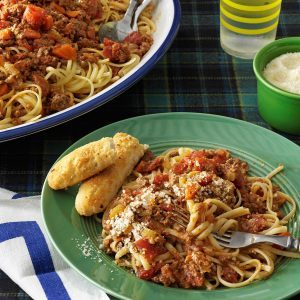 Beef Bolognese with Linguine