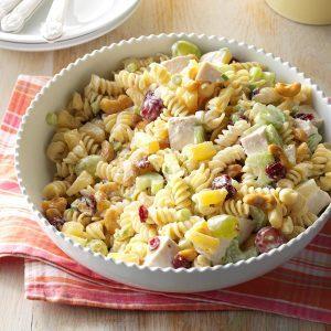 Cashew chicken rotini salad