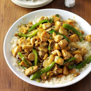 Cashew Chicken With Ginger