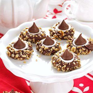 Chocolate Thumbprints Cookies