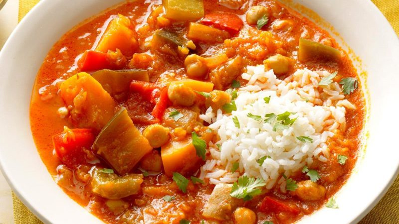 Coconut Red Curry Stew