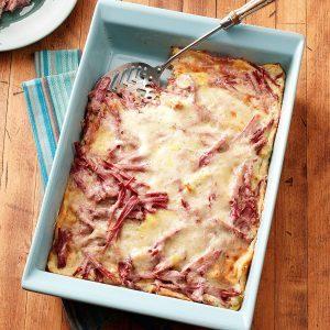 Corned Beef 'n' Cheese Strata
