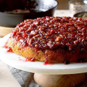 Grandmas best cakes taste of home cranberry pecan upside down cake forumfinder Images