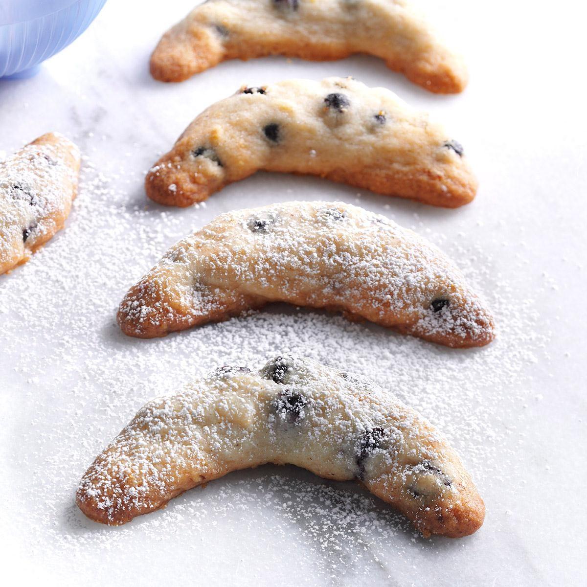 Blue Moon Crescent Cookies