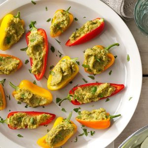 31 easy vegetarian recipes with 5 ingredients or less taste of home garbanzo stuffed mini peppers forumfinder Image collections