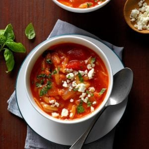 Greek Tomato Soup with Orzo