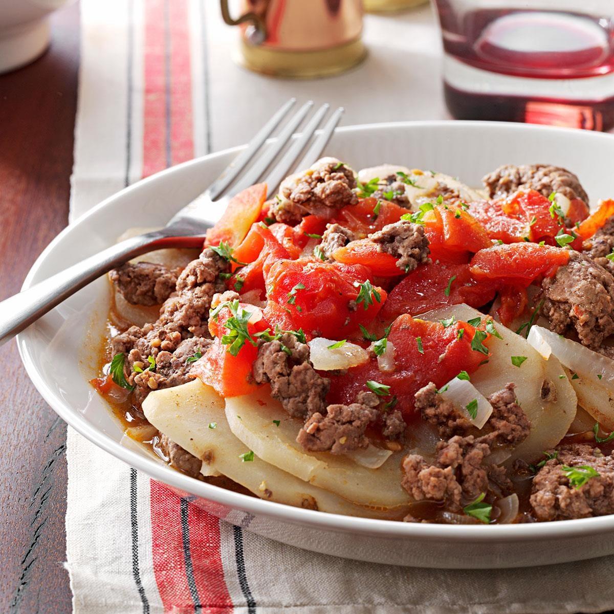 hamburger casserole beef recipes recipe taste food dish ground tasteofhome potato ingredients potatoes bake meat dishes cooking texas main easy