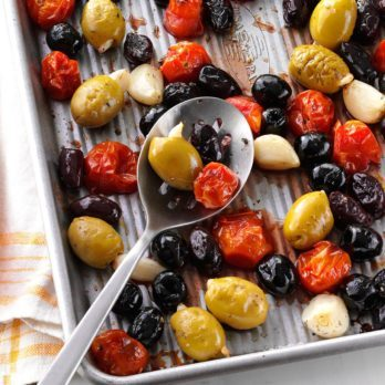 Herb-Roasted Olives & Tomatoes