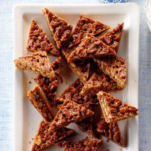 Honey Pecan Triangles
