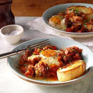 Italian Baked Eggs & Sausage
