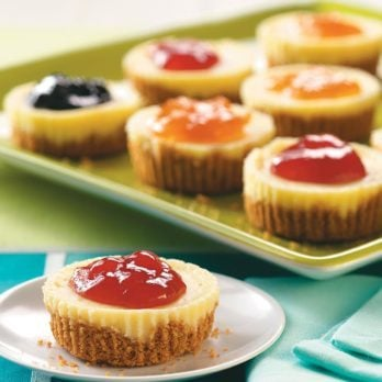 These Jam-Topped Mini Cheesecakes Will Make You Squeal With Joy