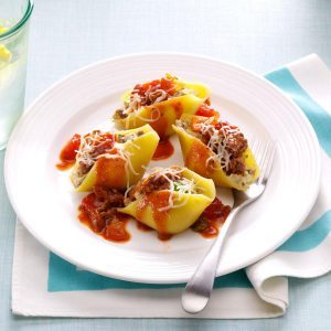 25 pasta for diabetics recipes taste of home makeover easy beef stuffed shells forumfinder Choice Image