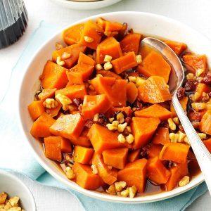 Maple-Walnut Sweet Potatoes