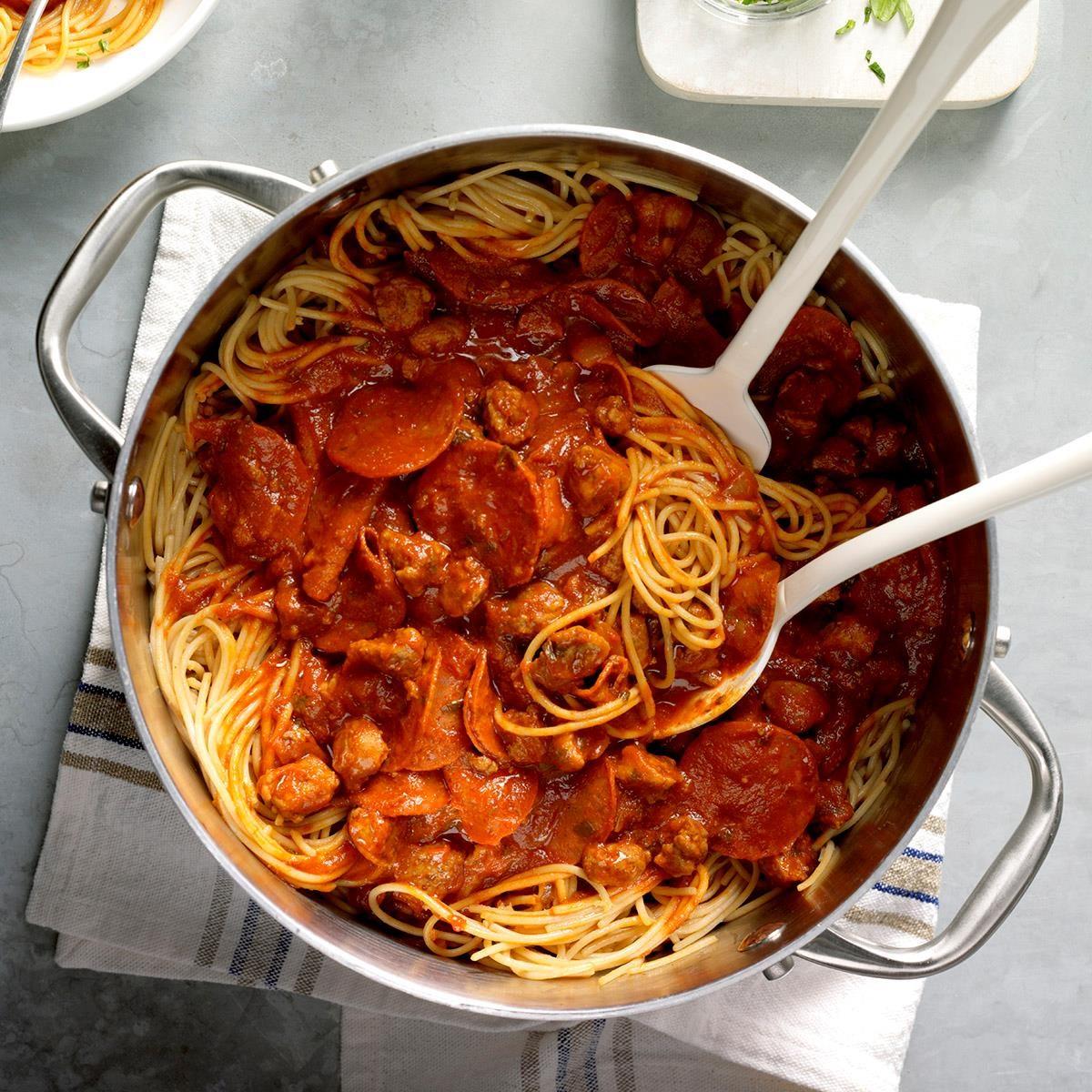 Pizza spaghetti