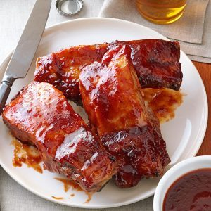 Plum-Glazed Country Ribs
