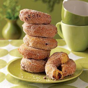 Pumpkin-Cranberry Cake Doughnuts