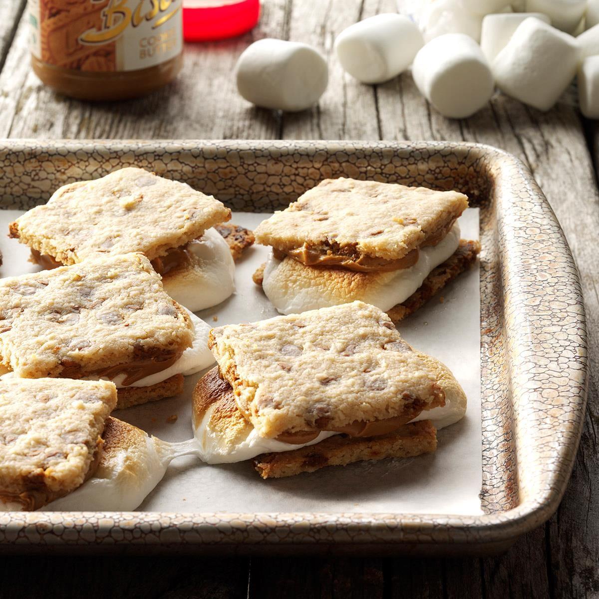 S'mookies on a baking sheet
