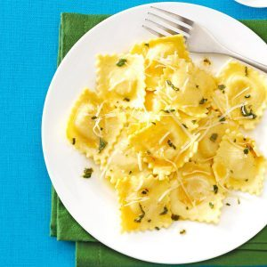 Sage and browned butter ravioli