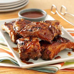 Saucy Grilled Baby Back Ribs