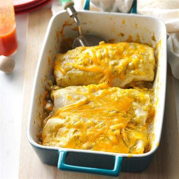 Smothered burritos in a 13x9 pan