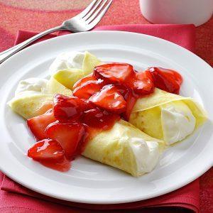 Strawberry Creme Crepes
