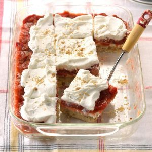 Strawberry-Rhubarb Cream Dessert