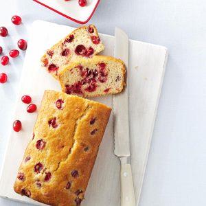 bread; cranberry; tart; loaf;