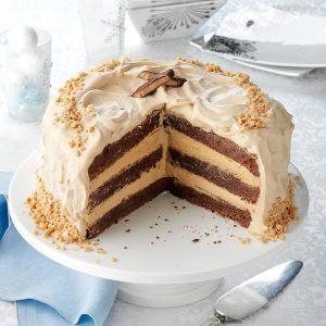Toffee Bar Brownie Torte