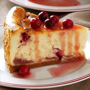 Winning Cranberry Cheesecake