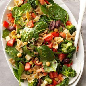 Bow Tie Spinach Salad