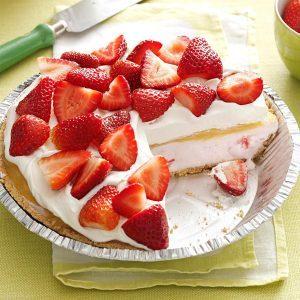 Lemon-Berry Ice Cream Pie