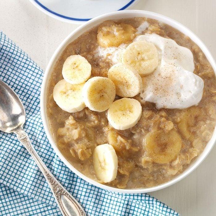 Bananas Foster Oatmeal