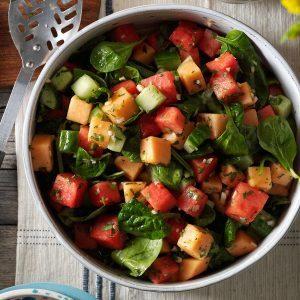 Watermelon & Spinach Salad