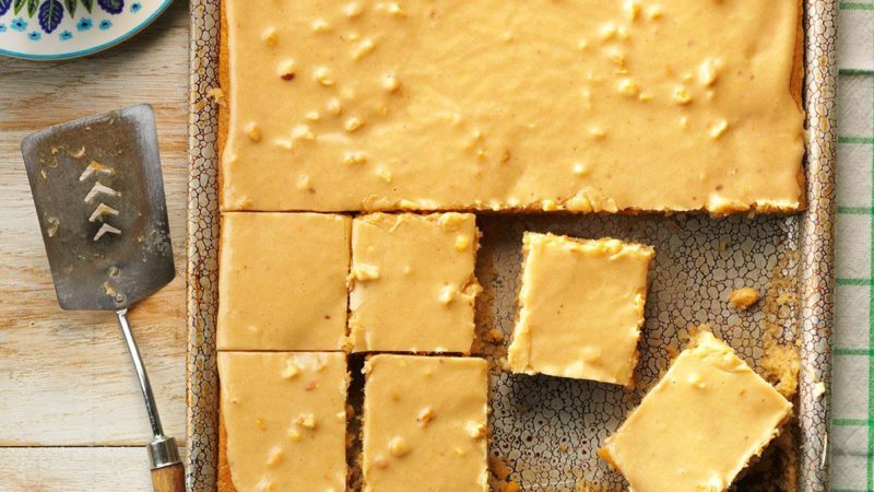 How to Make an Easy Peanut Butter Sheet Cake in a Jiffy