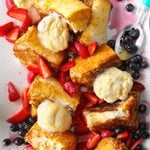Grilled Angel Food Cake with Strawberries