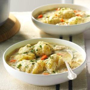 The Best Chicken and Dumpling Soup