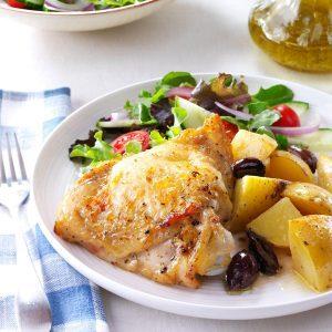 Greek-Style Lemon-Garlic Chicken
