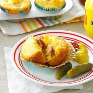 Cheddar Corn Dog Muffins