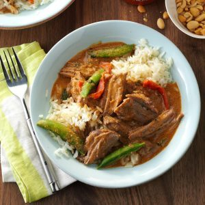Instant pot recipes from around the world taste of home pressure cooker thai coconut beef forumfinder Choice Image