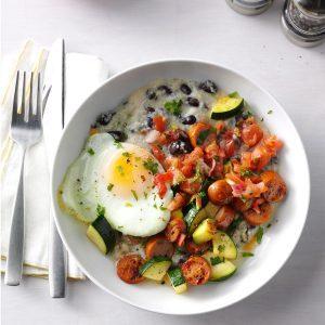 Chorizo & Grits Breakfast Bowls