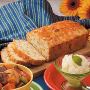 Cheesy Onion Quick Bread