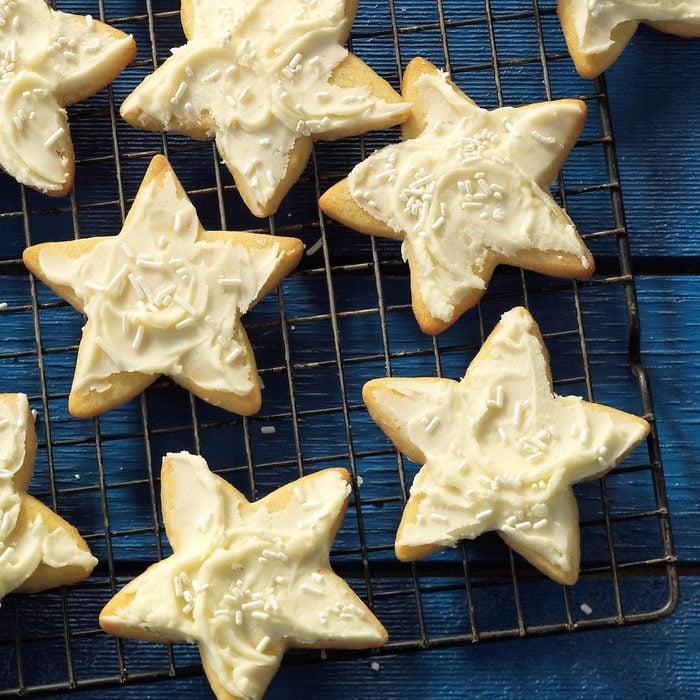 Star-shaped sugar cookies