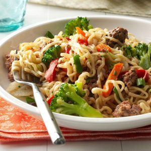 Asian Beef and Noodles