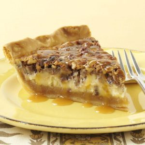 Caramel-Pecan Cheesecake Pie