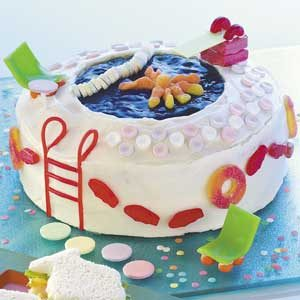 15 recipes to make for summer pool parties taste of home pool party cake sciox Choice Image